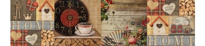 Кухонный фартук Сладкий Дом-кирпич