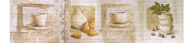 Кухонный фартук Груши-кирпич
