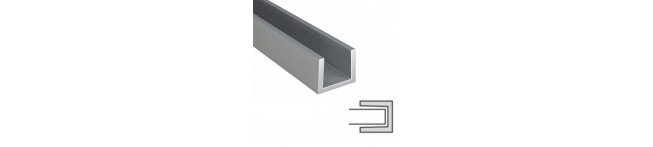 Планка торцевая для панелей 6 мм. (матовый алюминий) ПРАВЫЙ-ЛЕВЫЙ