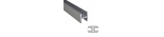 Планка стыковочная для панелей 6мм. (матовый алюминий). Размер : 600 мм