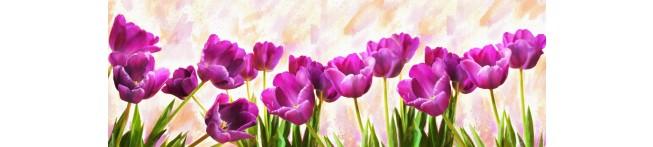 Кухонный фартук Тюльпаны акварель