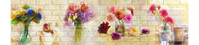 Кухонный фартук Цветы в вазах