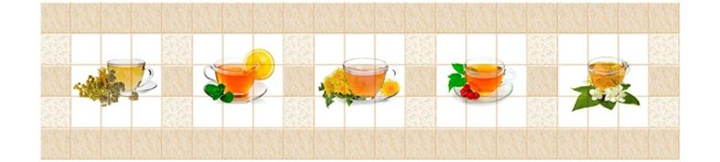 Кухонный фартук Кафель Цейлон